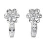 J Hoop Diamond Earrings