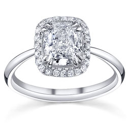 cushion halo engagement ring mydiamondman harolds jewlery houston - Wedding Rings Houston