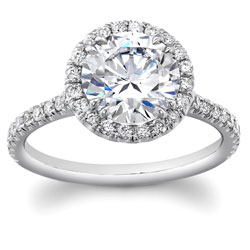 round halo engagement ring mydiamondman harolds jewlery houston - Wedding Rings Houston